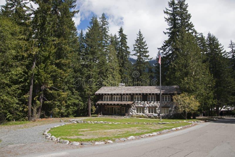 Mt Ranier Historic Lodge stock image