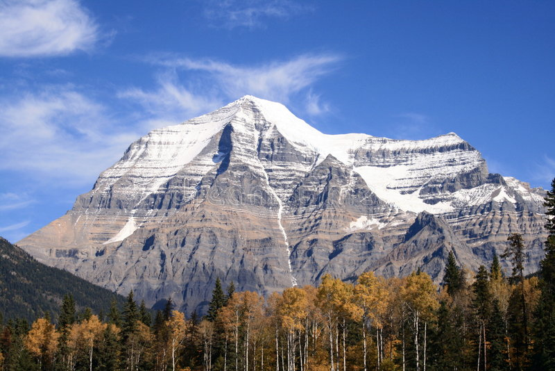 Download Mt. Robson stock photo. Image of british, snow, mountains - 7079278