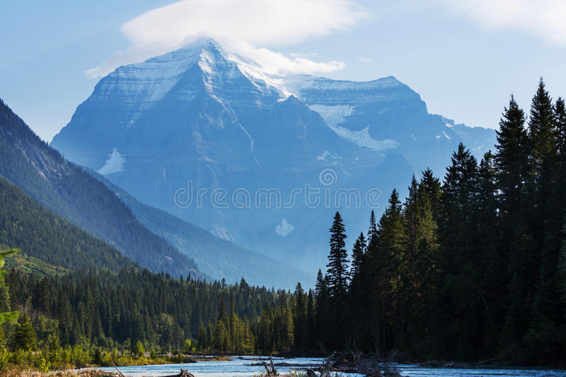 Mt robson lizenzfreie stockbilder