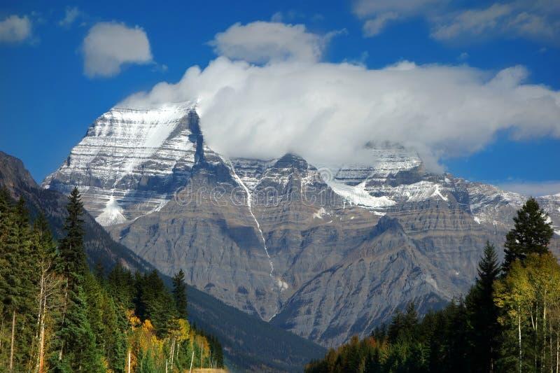 Mt.Robson kanadensiska steniga berg, Kanada arkivbilder