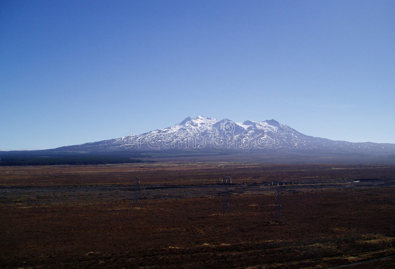 Mt Ruapehu royalty free stock photography