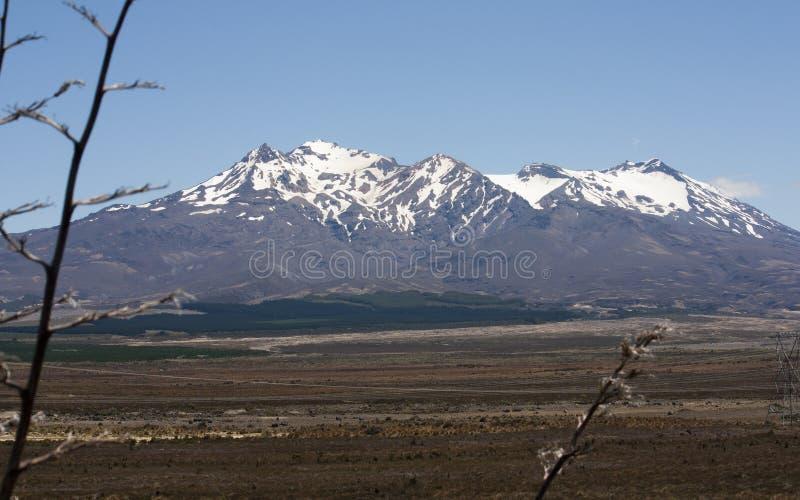 Mt Ruapehu, Nouvelle-Zélande images libres de droits