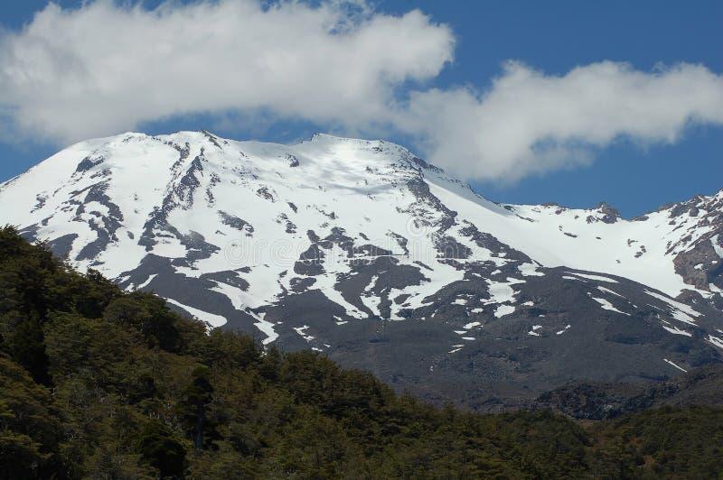 Mt Ruapehu (volcán) imagenes de archivo