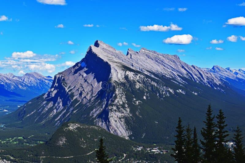 Mt Rundle images libres de droits
