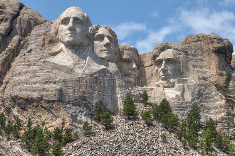 Mt Rushmore är en nationell monument i den amerikanska staten av South Dakota arkivfoto