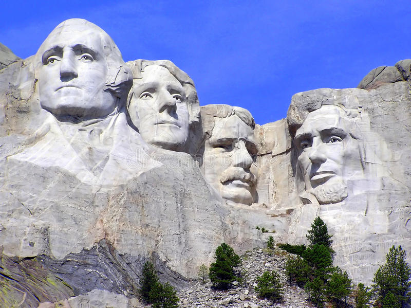 Mt. Rushmore eine Touristenattraktion in South Dakota stockbild
