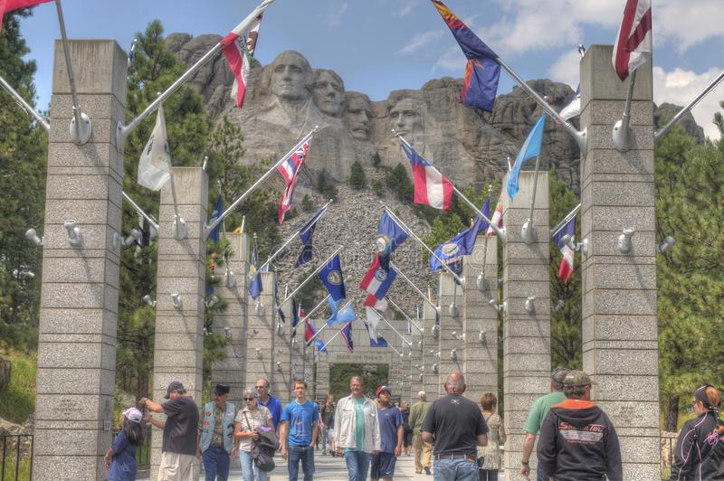 MT Rushmore in Zuid-Dakota stock foto