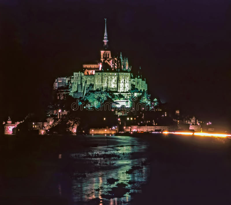 Mt Saint Michel, França fotos de stock