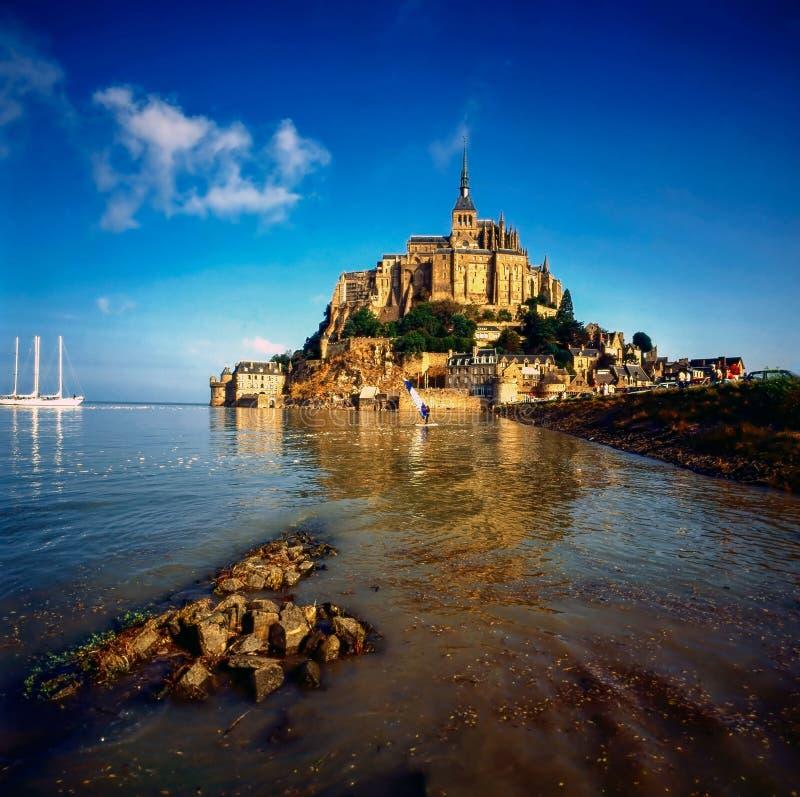 Mt Saint Michel, França fotografia de stock