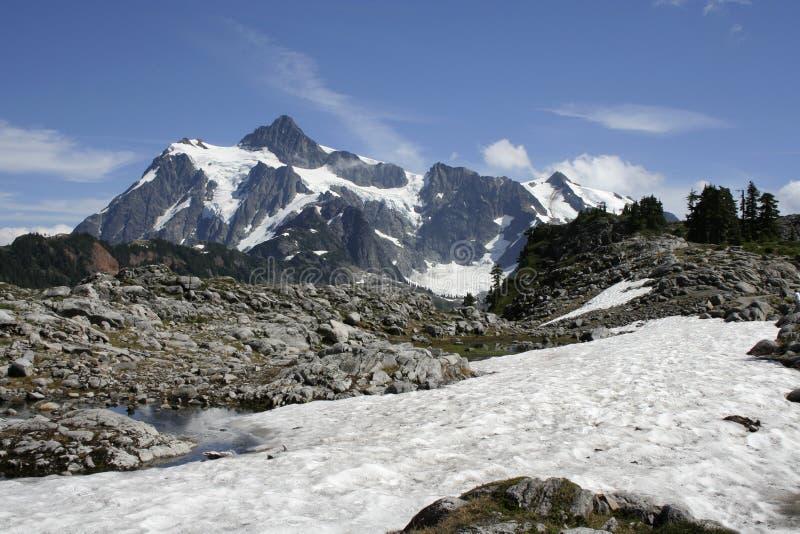 Mt Shuksan fotografia stock