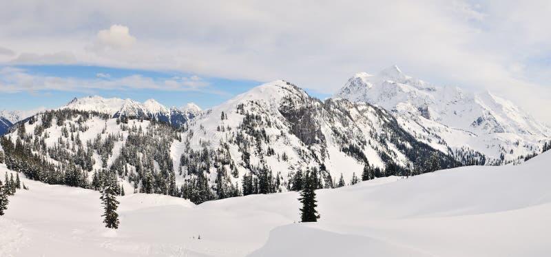 Mt Shuksan panaramic view stock photography