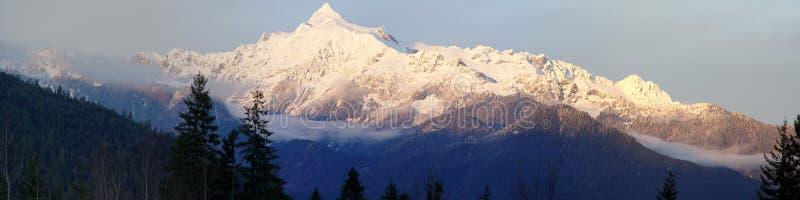 Mt Shuksan Panorama stock photography