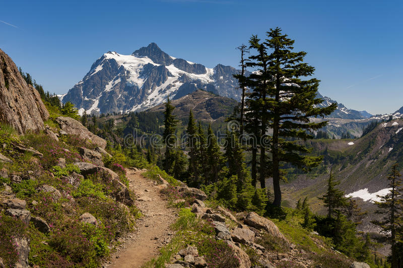 Mt Shuksan, Washington fotos de stock royalty free
