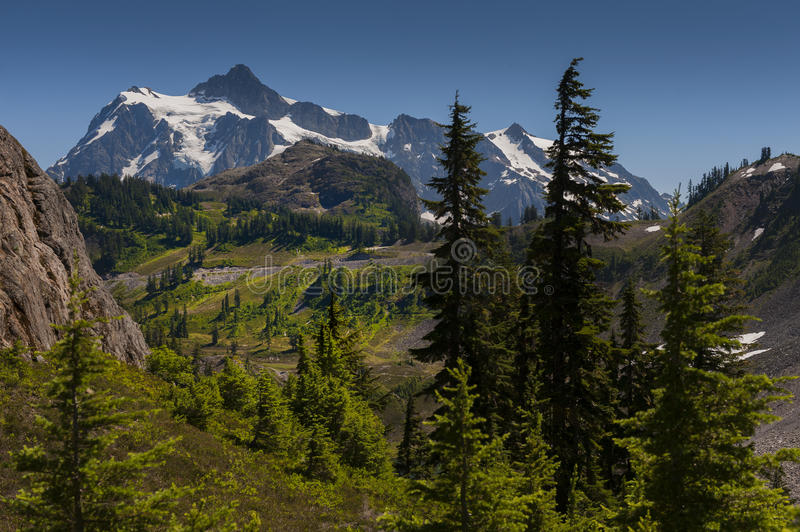 Mt Shuksan, Washington imagem de stock