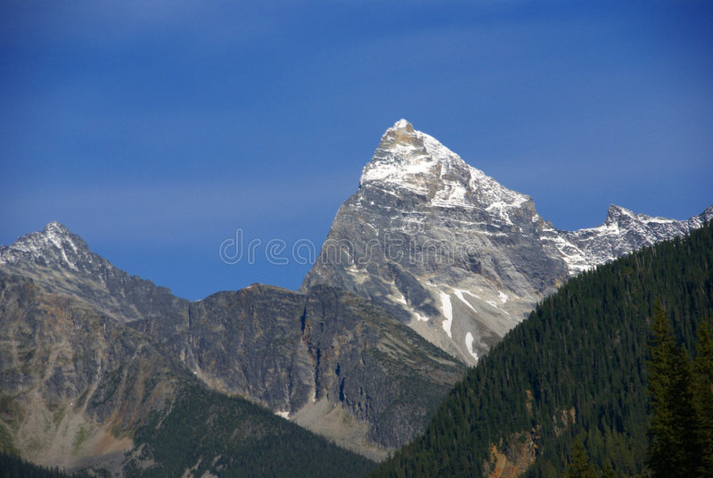 Mt Sir Donald, with blue sky,Rogers Pass royalty free stock photo
