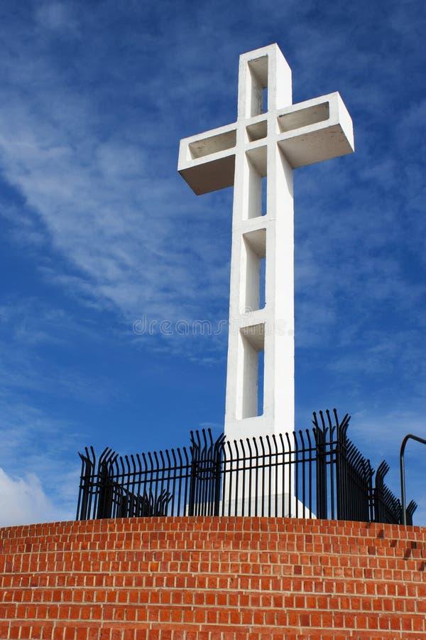 Mt Soledad krzyża czerwieni kroki fotografia stock