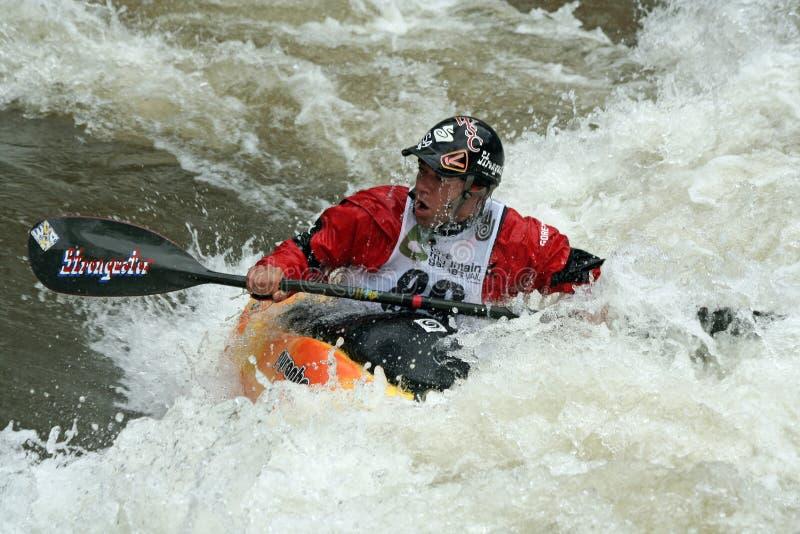 Mt. Spelen 2011 van Teva - Vrije slag Kayaking royalty-vrije stock fotografie