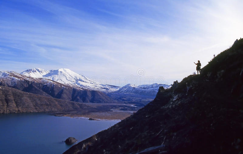 Mt St Helens Coldwater Ridge Viewpoint royalty free stock photography