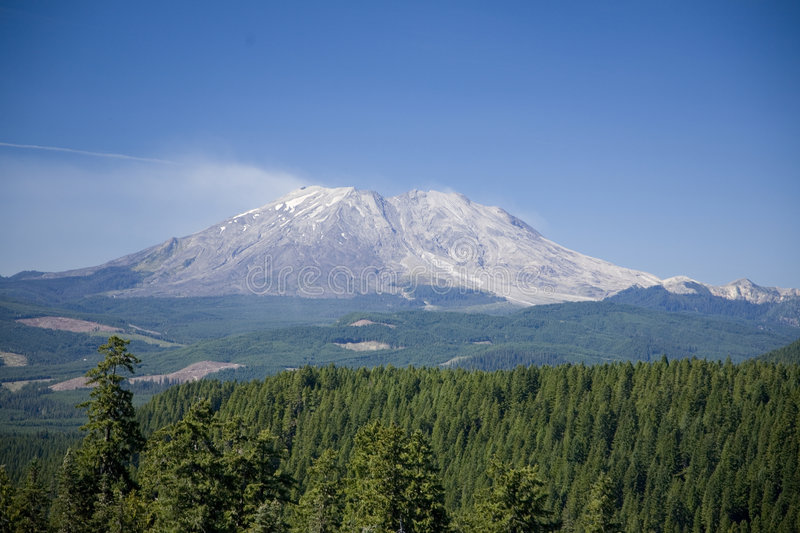Mt St Helens the east side stock photography