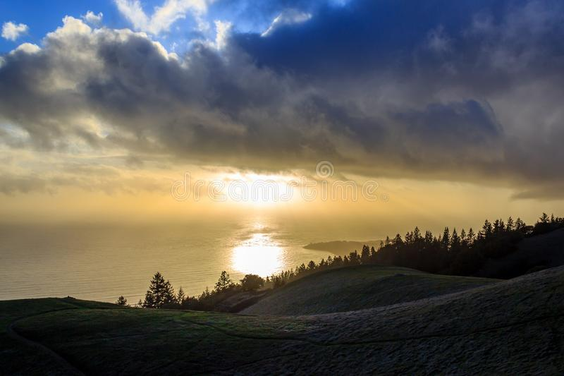 Mt Tam Sunset foto de archivo libre de regalías