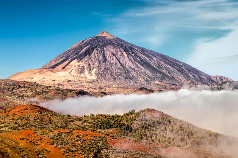 Mt Teide. A volanoe in tennerife royalty free stock images