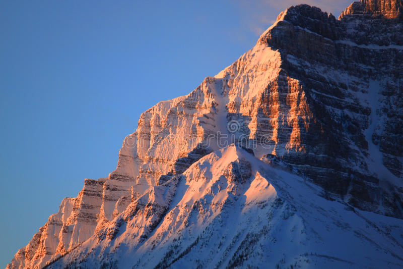 Mt. Temple, Lake Louise. Taken from the Lake Louise Ski Area stock image