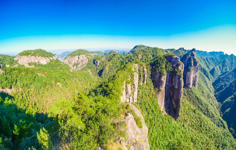 Landscape of China`s Famous Peak. Mt. TianMu , also named ShenXianjv at ZheJiang province , a famous mountain of China stock images