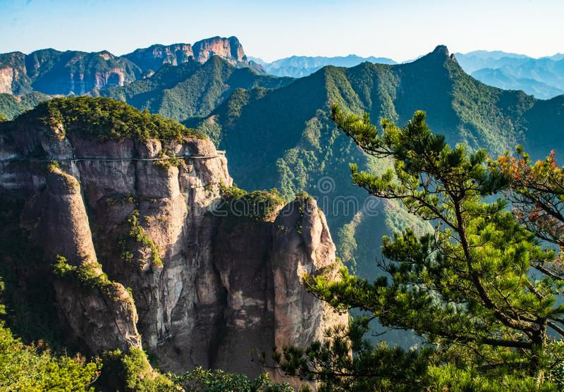 Landscape of China`s Famous Peak. Mt. TianMu , also named ShenXianjv at ZheJiang province , a famous mountain of China stock image