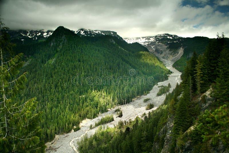 Mt. Un stationnement national plus pluvieux images libres de droits