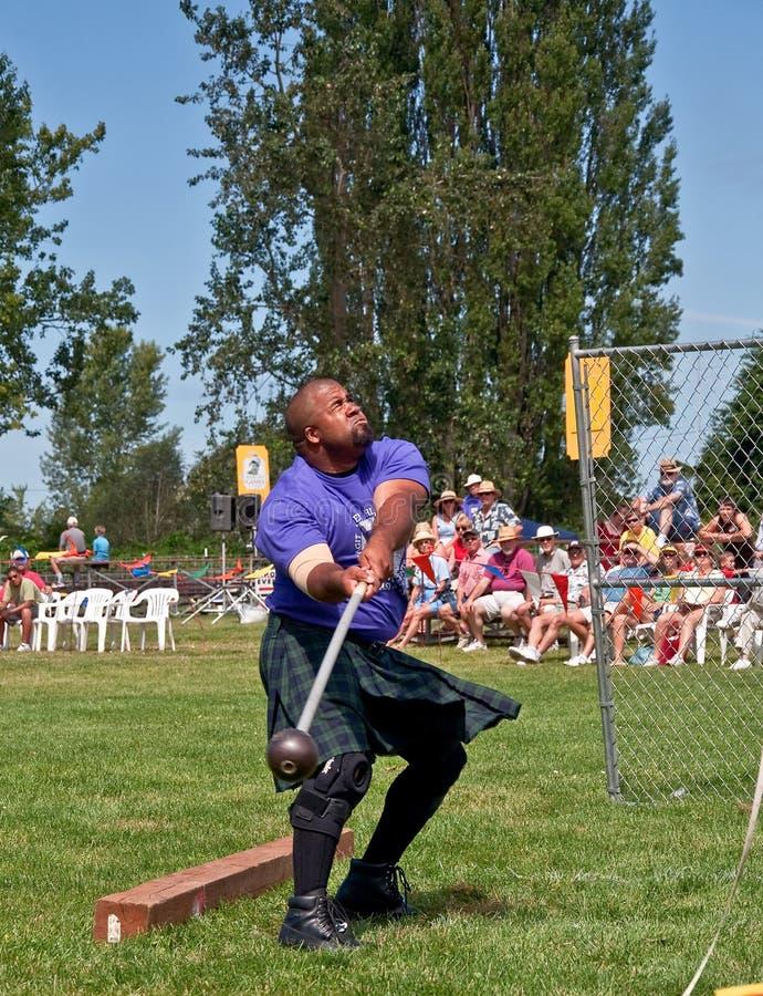MT VERNON, WA - 9 JULI - de Schotse Spelen van het Hoogland stock foto's