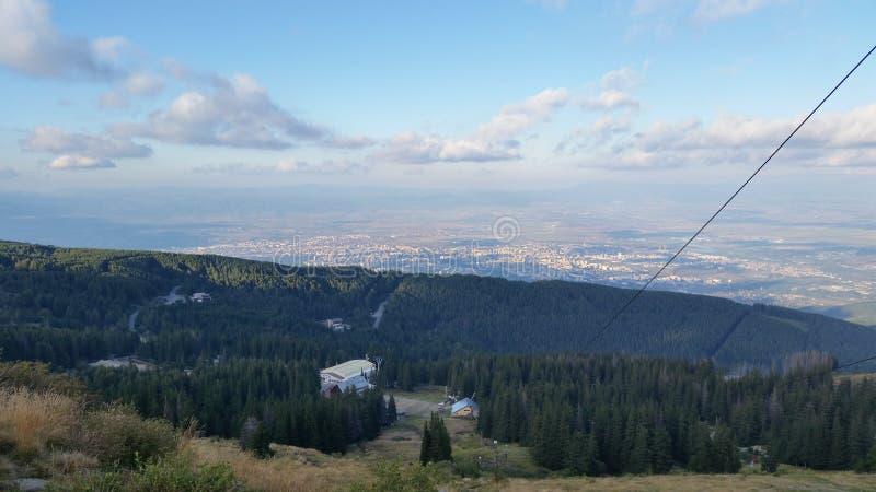 Mt vitosha Sofia stock image