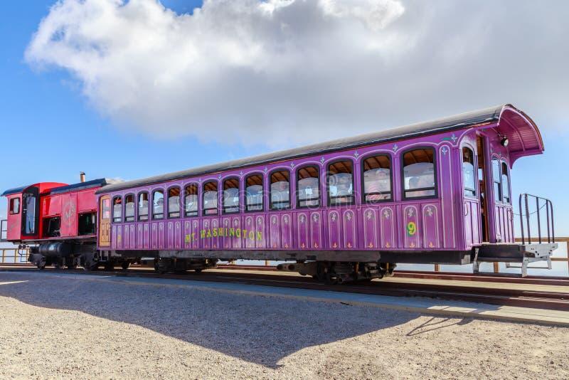 MT Washington Cog Railway Cars, New Hampshire royalty-vrije stock foto