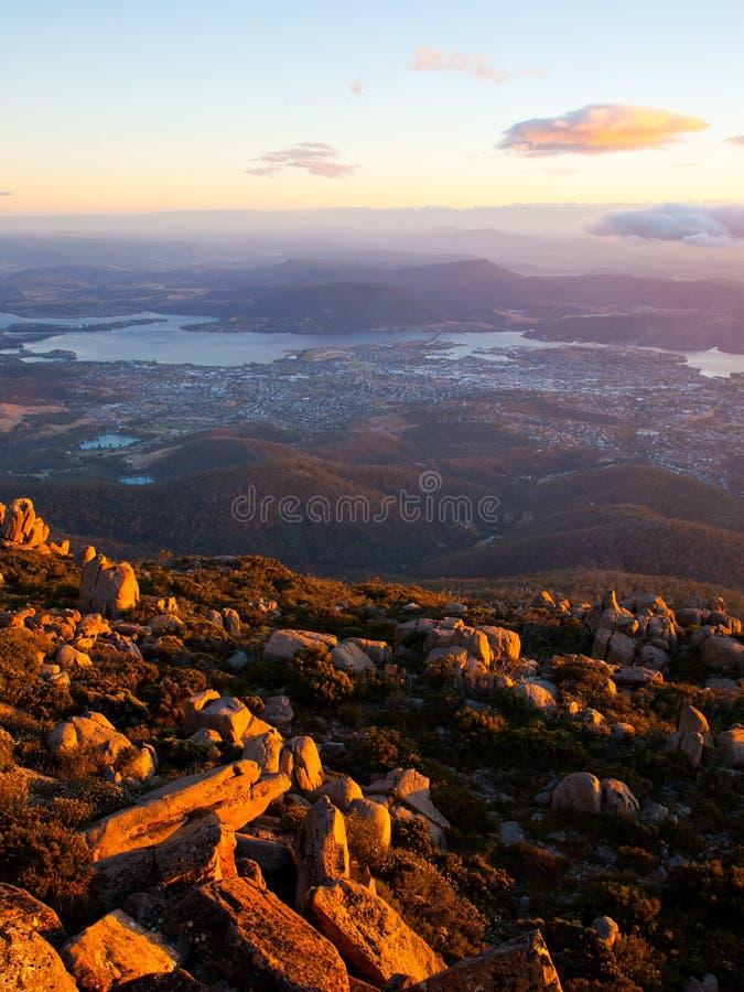 Mt Wellington fotografia stock
