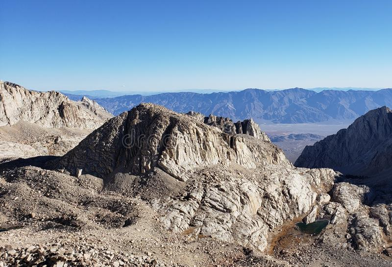 Mt. Whitney Panorama stock images