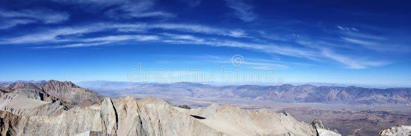Mt Whitney Panorama fotografia stock