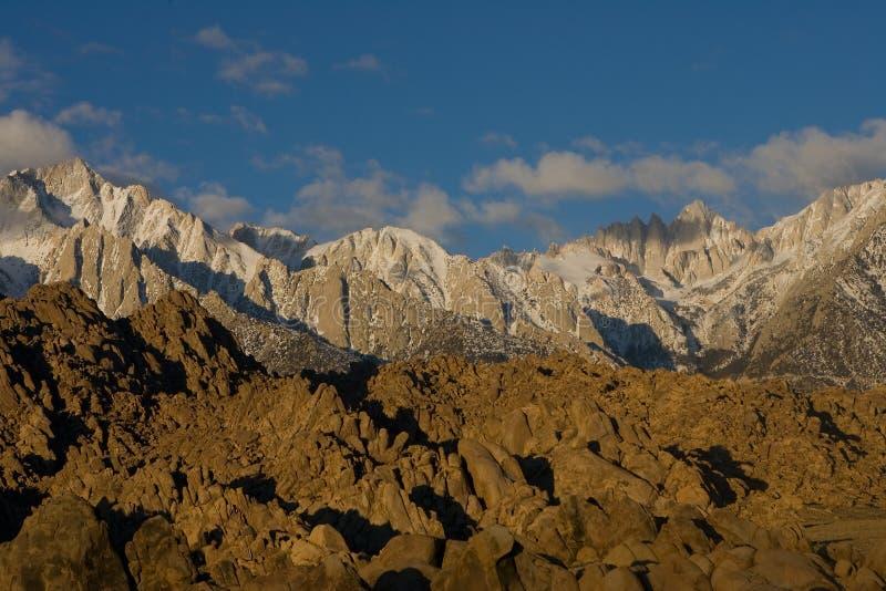 mt wschód słońca Whitney zima zdjęcia stock