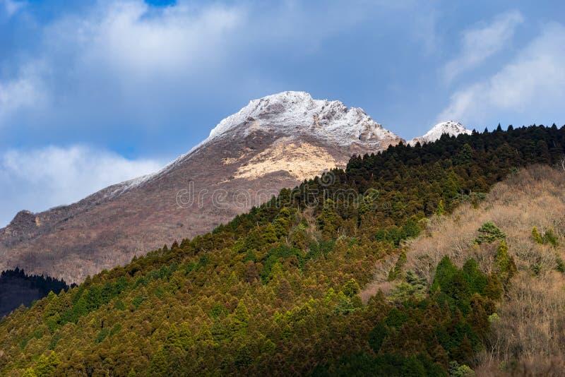 Mt Yufu, Yufuin山 库存照片