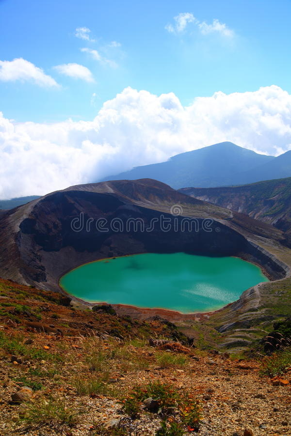 Download Mt. Zao and crater lake stock image. Image of landscape - 28615415