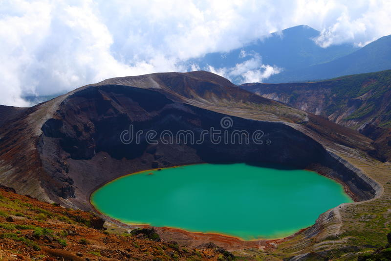 Mt. Zao And Crater Lake Royalty Free Stock Image