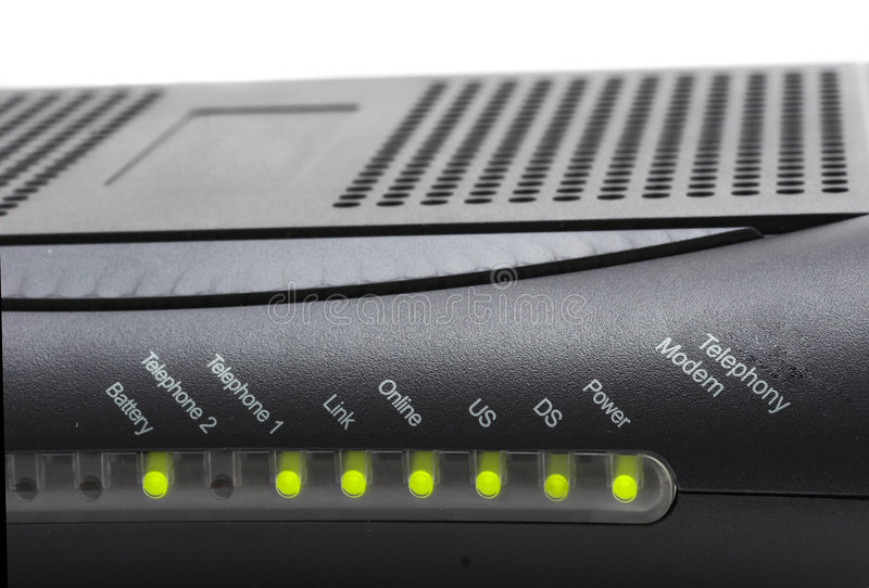 Download MTA cable modem stock photo. Image of transfer, black, send - 781084