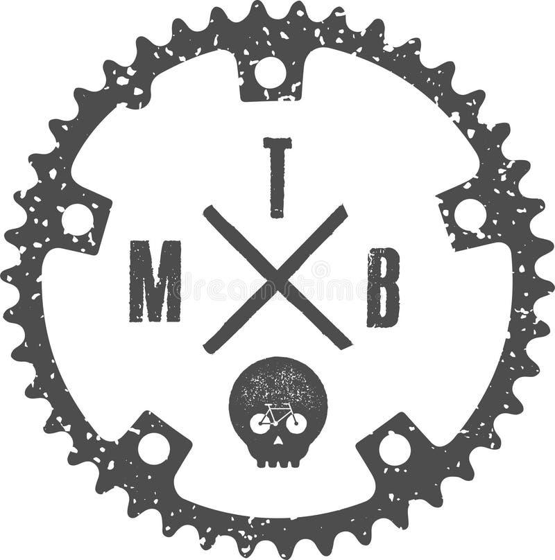 MTB头骨 向量例证