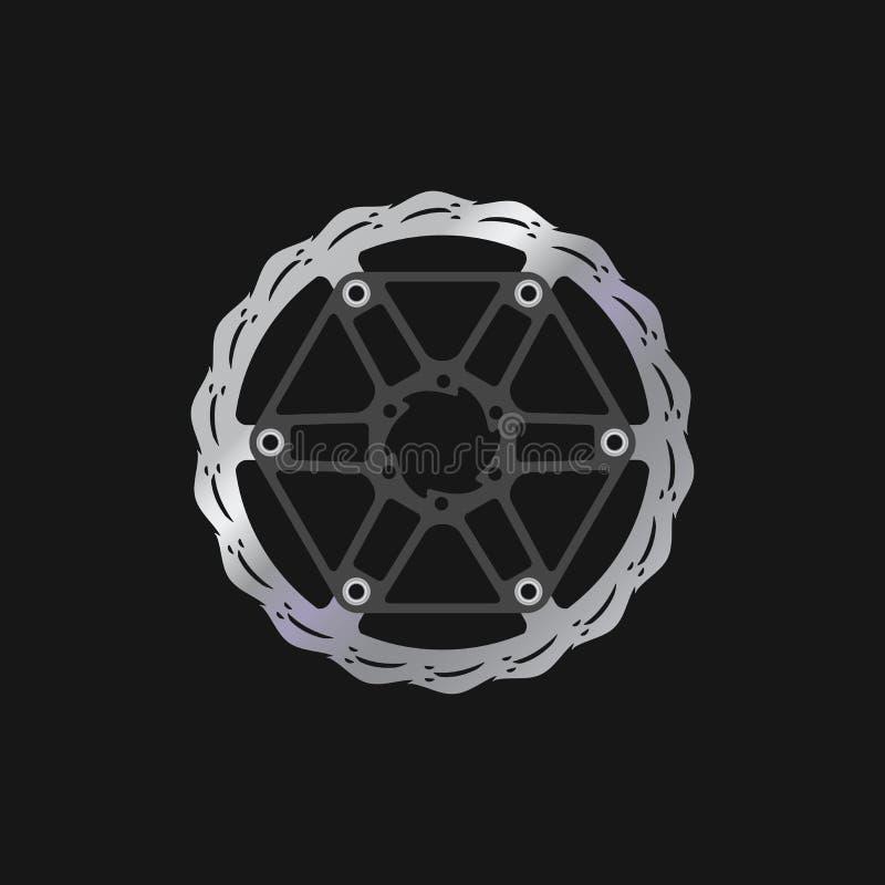 MTB-cykel, cykelbromsdiskett Realistisk vektorillustration stock illustrationer