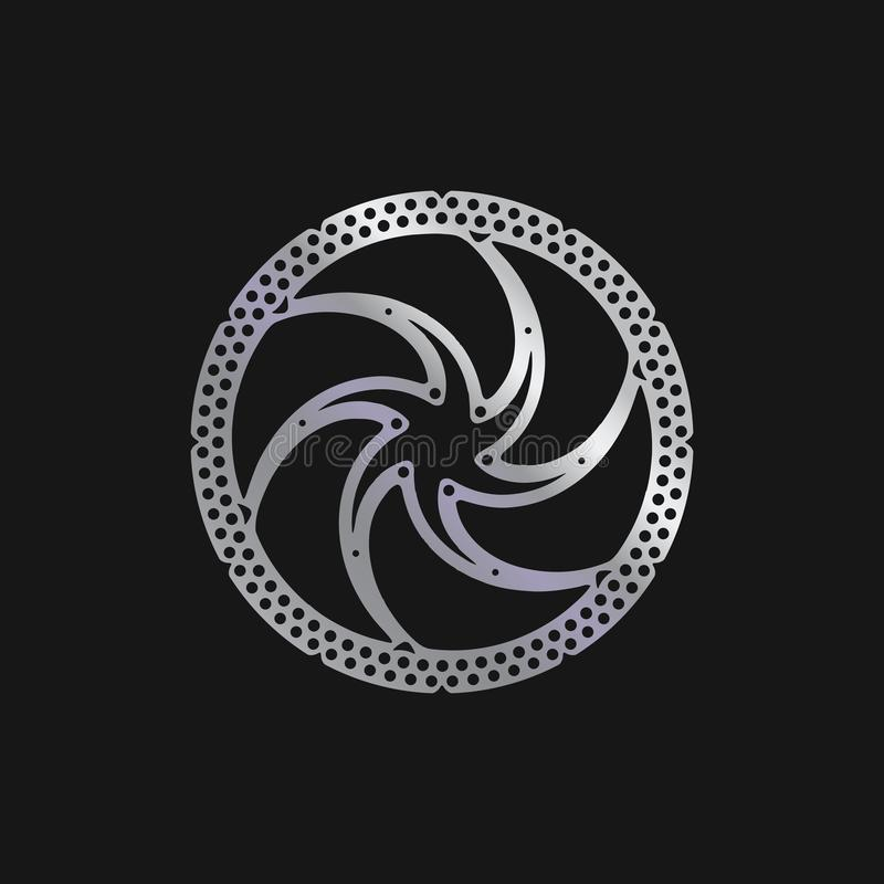 MTB-cykel, cykelbromsdiskett Realistisk vektorillustration royaltyfri illustrationer