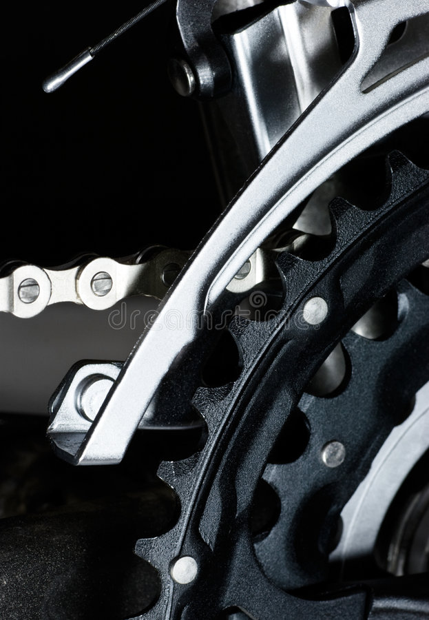 MTB front derailleur royalty free stock images