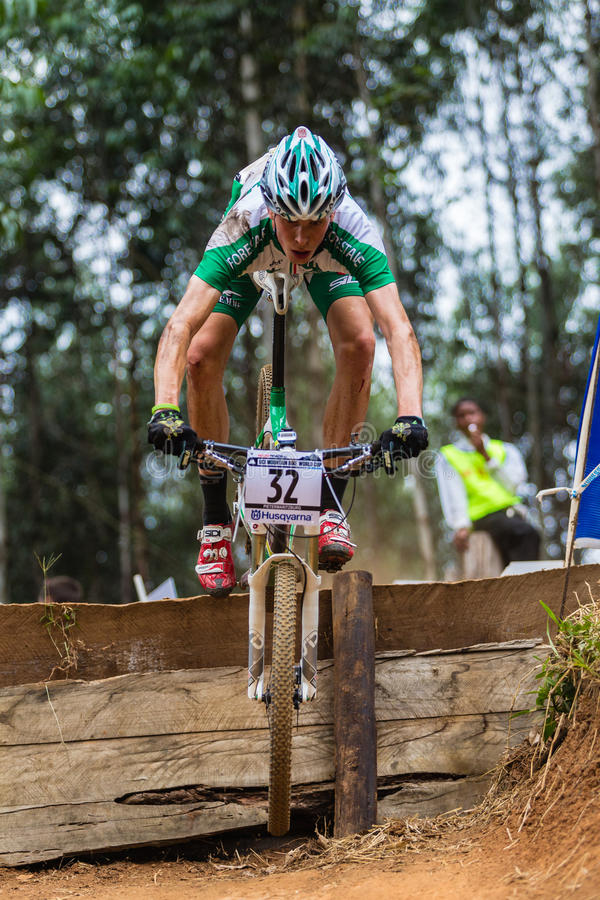 Download MTB Male Cyclist Flight editorial image. Image of races - 26801805