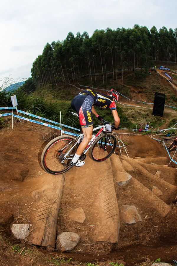 Download MTB Male Vertical Steep Steps Editorial Photography - Image: 26100157