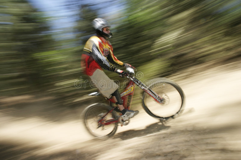 MTB racer stock photography