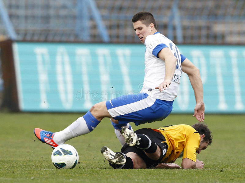 MTK Budapest contro la partita di football americano del papà del Lombard fotografia stock libera da diritti