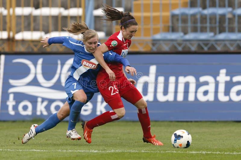 MTK gegen Potsdam-Fußballspiel lizenzfreie stockfotografie