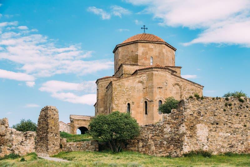 Mtskheta Georgia Chiesa georgiana antica di Holly Cross, monastero di Jvari fotografia stock
